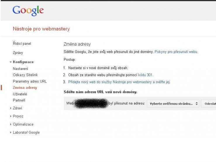 Přesměrování 301 GooglePřesměrování 301 Google