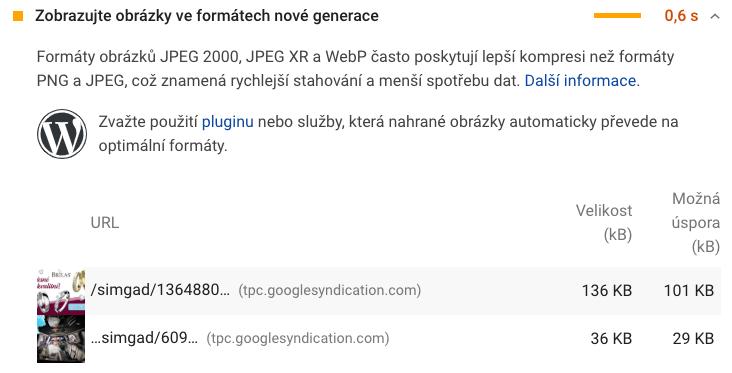 JPG obrázky v reklamách Google AdSense