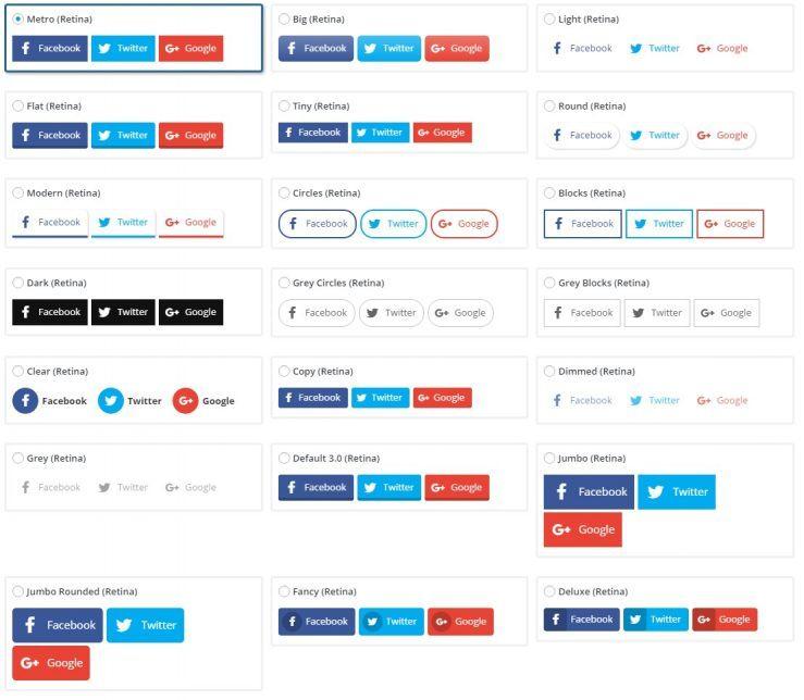Sociální tlačítka Easy Social Share