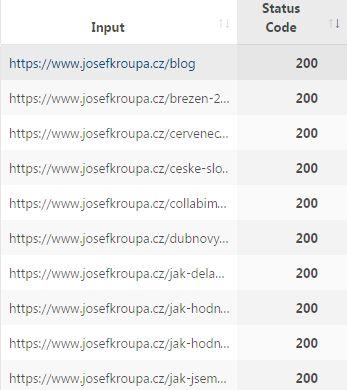 Status kódy webu